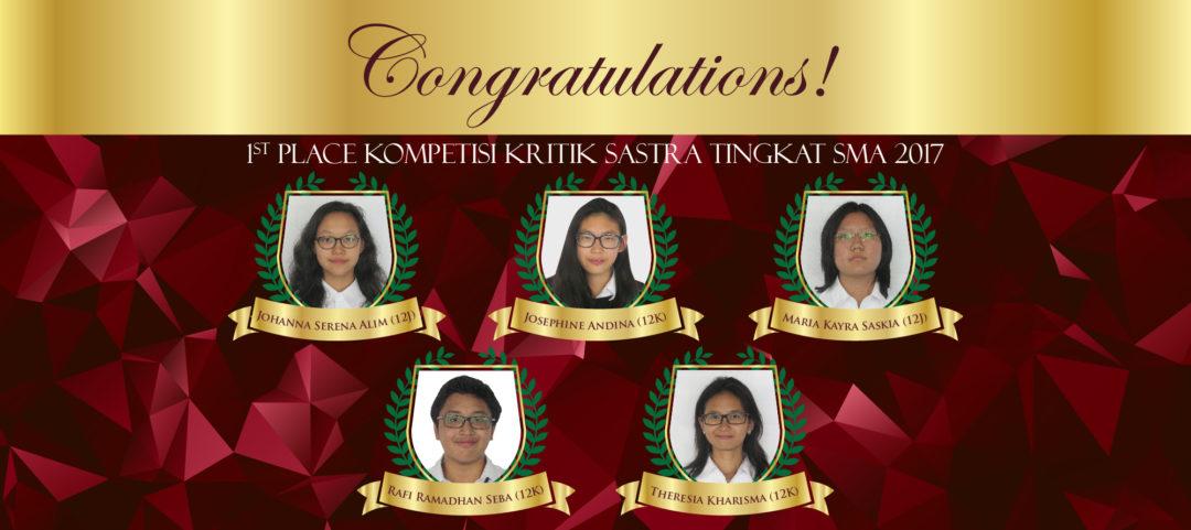 Kompetisi Kritik Sastra 2017 MSHS