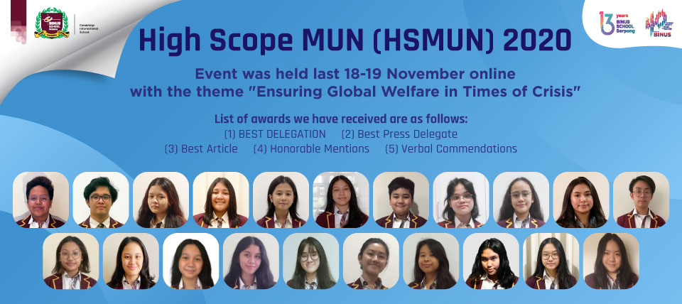 High Scope MUN 2020