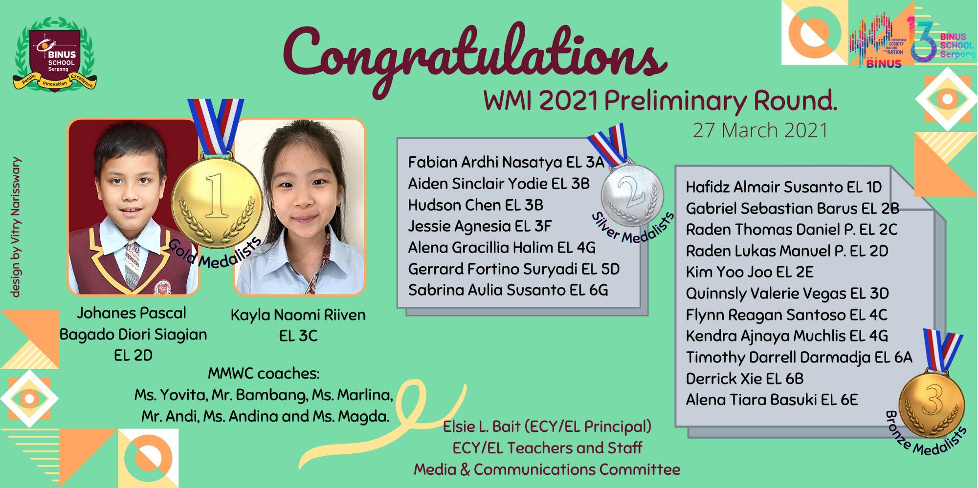 WMI 2021 Preliminary Round